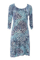 MIRACLEBODY  by Miraclesuit Women's Turquoise Marilyn Stretch Dress Sz S NWT $89