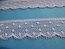 "FRENCH VAL COTTON NET LACE~3/4""~WHITE~ DOLL TRIM~HEIRLOOM SEWING~BY THE YARD"
