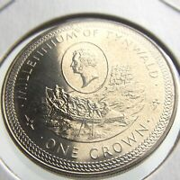 1979 Isle of Man One 1 Crown Millennium Tynwald Brilliant Uncirculated Coin P639