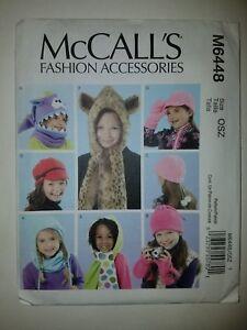 McCall's Pattern Children's FUN Winter Hats, Cowl & Mittens #M6448
