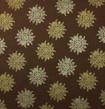 "INMAN HOME LAMU TWILIGHT SAFARI BROWN PAISLEY MEDALLION FABRIC BY THE YARD 54""W"