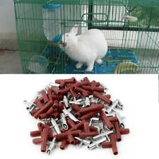 30pcs Rabbit Nipple Water Drinker Waterer Poultry Feeder Bunny Rodent Mouse GA