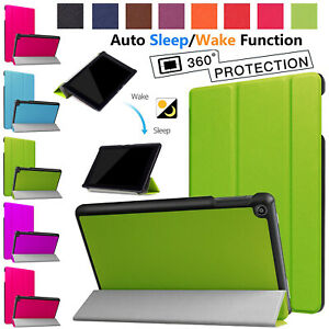Leather Smart Protective Magnetic Case Cover For Amazon Kindle Fire 7 Inch 2017