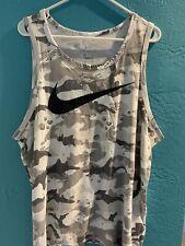 Men's Nike Dri-fit Camo Tank Top Gray Xl
