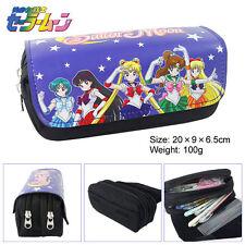 2016 Anime Sailor Moon Stationery bag Large capacity double zipper pencil case