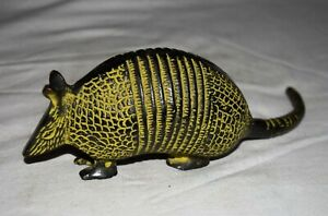 Brass Armadillo Statue Wild Rat Design Home Décor Showpiece JD33