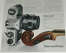 1972 Pentax advertisement page, Pentax Spotmatic II camera, Honeywell