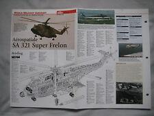 Cutaway Key Drawing of the Aerospatiale SA 321 Super Frelon