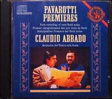 PAVAROTTI & ABBADO: VERDI PREMIERES Simon Boccanegra Ernani I due Foscari CBS CD
