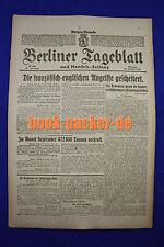 BERLINER TAGEBLATT (23.10.1917): Die französisch-englischen Angriffe gescheitert