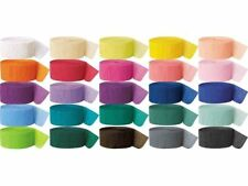 81ft CREPE PAPER STREAMER ALL COLOURS PARTY WEDDING ANNIVERSARY DECORATION ROLLS