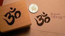 Yoga health symbol, OHM rubber stamp P49