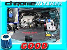 BLUE NEW 97 98 99 00 01 02 03 CHEVY MALIBU 3.1 3.1L V6 FULL COLD AIR INTAKE 3pc