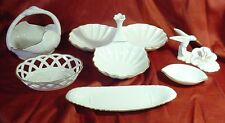 6 Lenox China Serving Pieces 3 Sectioned Relish/Swan Basket/ Olive Dish Plus