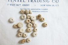 """24 pcs Vintage Antique Cream Cotton Victorian Buttons Doll Lingerie 3/8"""""""