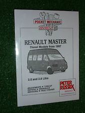 RENAULT MASTER WORKSHOP MANUAL 2.5L & 2.8L DIESEL Inc TURBODIESEL MODELS 1997>04