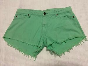 Elwood Green Denim Shorts ~ Size 10