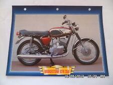 CARTE FICHE MOTO 1968 BRIDGESTONE GTR 350