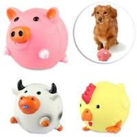 Pig/Chicken/cow Shaped Pet Dog Molar Bite Squeak Vinyl Toy Chew Sound Toys Z4A6