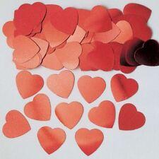 Jumbo Rouge Cœur Amour Confettis ST.VALENTIN Table de fête copeaux