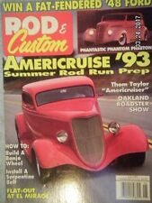 "ROD & CUSTOM MAGAZINE..JUNE 1993...""AMERICCRUISE '93"".BUILD A BANJO WHEEL"