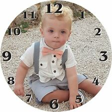 Personalised Custom Wall /Desk Clock 9x9 CM ANY picture of your choosing