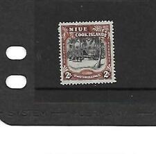 Niue 1938 2/- Black & Red-Brown mm