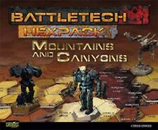 Battletech Miniature Wargame HexPack - Mountains and Canyons