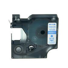 45011 BLU SU TRASPARENTE NASTRO COMPATIBILE DYMO D1 CASSETTA LABELMANAGER 12mm