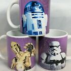 Star Wars R2-D2 Galerie Coffee Mug Cup, With C-3PO, and Stormtrooper. 3 cup Set