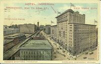 Hotel Imperial Broadway 1911 New York City Postcard Copeland Townsend Manager