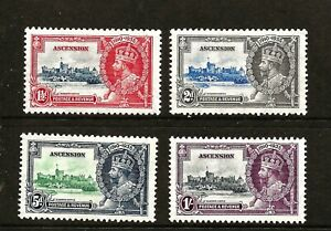 ASCENSION (Y-029) 1935 SILVER JUBILEEFULL SET OF 4 VERY FINE MM / MH