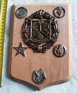 Plaque Souvenir Insigne 1° REC Bronze et Insignes d'Escadrons LÉGION ÉTRANGÈRE