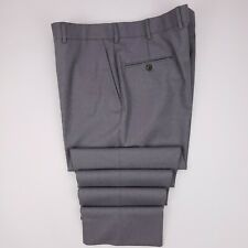 Brooks Brothers Own Make Pants 38x33 Gray Flat Front Wool Trouser Usa Mens Size