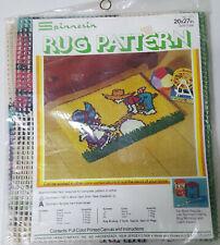 "Nip Vintage 70's Spinnerin Latch Hook Rug Pattern Sew Saw 20"" x 27"" Pattern Only"