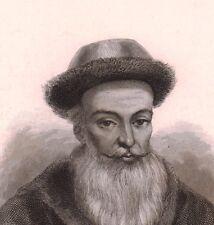 Portrait XIXe Ferdinand Verbiest Pittem Astronomie Mathématique Chine China 南怀仁