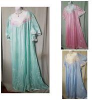Ventura Green Blue Pink Nightgown B3G1 FREE Long w/Applique Sz  M  1X 2X 3X 4X