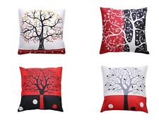 Decorative Throw Pillow Covers Art print Cushion Covers 18'' Square Set 4