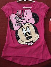 Disney Girls Minnie Mouse Shirt Top NEW Size 5