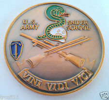 US ARMY SNIPER SCHOOL  Military Veteran US ARMY CHALLENGE COIN 22346