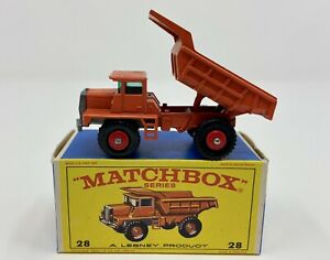 Matchbox No. 28 Mack Dump Truck in Original 'E4' Box