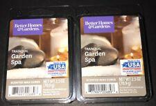 Better Homes & Gardens TRANQUIL GARDEN SPA Wax Cubes 2 Packs