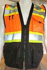 High Visibility Surveyor Three Tones Safety Vest Ansi Isea 107 2015