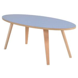 Beistelltisch Couchtisch Sofa Skandinavisch Tisch Wohnzimmer ARVIKA oval 120cm B