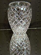 CESKA Czech Deep Cut Clear Crystal Canterbury Diamond Vase