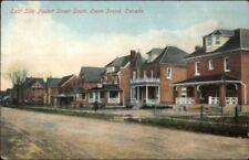 Owen Sound Ontario Poulett St. Homes c1910 Postcard
