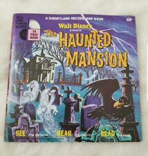 Walt Disney The Haunted Mansion Record and Book Vintage fast shipping!!