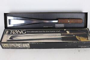 Vintage Tommer Tøng Polished Aluminum & Black Walnut Cooking Grilling Tongs USA
