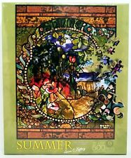Tiffany - Stained Glass Window Puzzle - Four Seasons - 500 PC Jigsaw Puzzle NEW