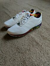 97236e13f Mens Adidas Originals ZX Flux White Floral Print Size 9.5